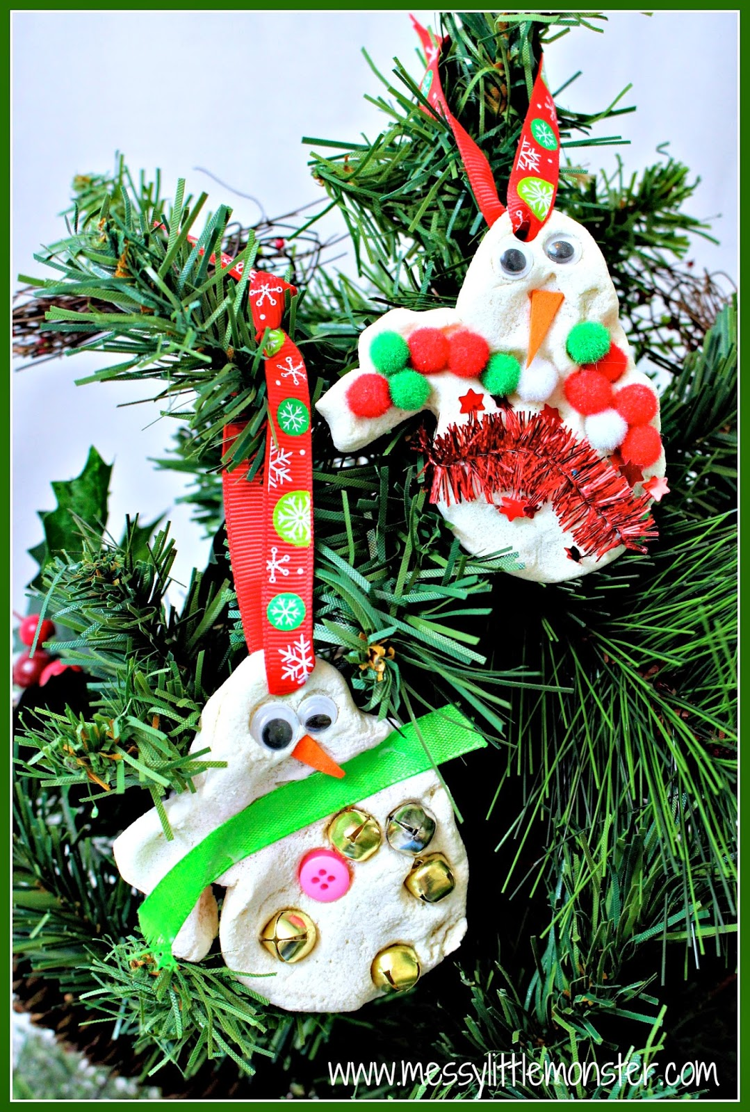 Snowman Christmas Tree Decorations - Messy Little Monster