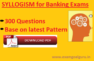 syllogism questions for banking exams