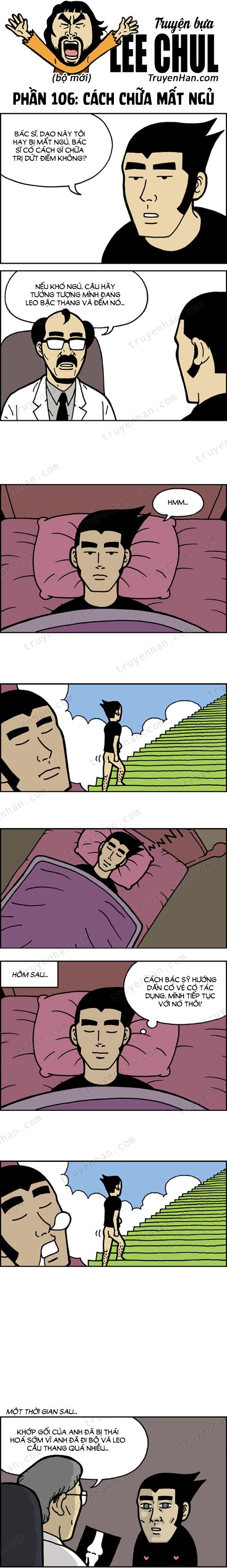 TRUYỆN BỰA LEE CHUL phần 106: Cách chữa mất ngủ