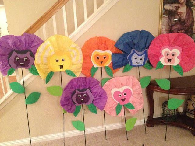 Ide membuat kerajinan berbentuk bunga kepala hewan menggunakan kertas untuk anak-anak