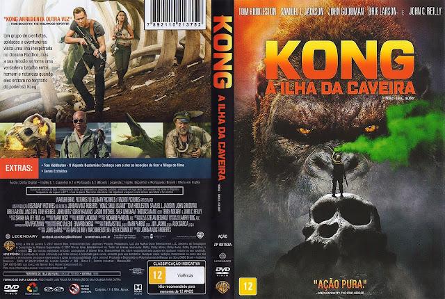 Capa DVD Kong A Ilha da Caveira