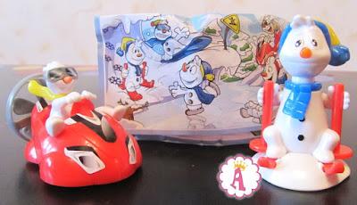 Киндер Макси игрушки снеговики (Украина)