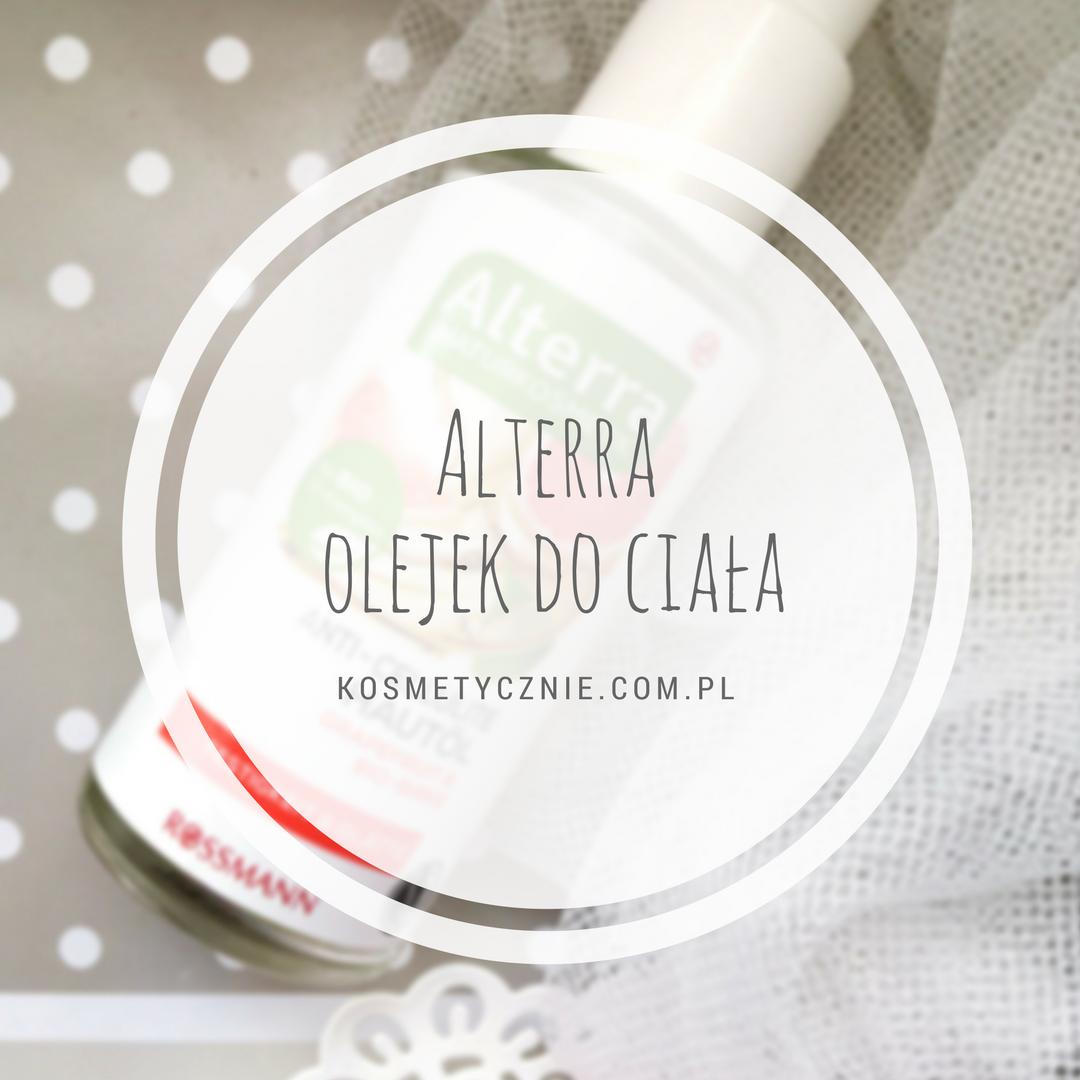 Alterra olejek do ciała