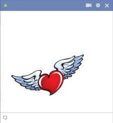 Heart With Wings Emoticon