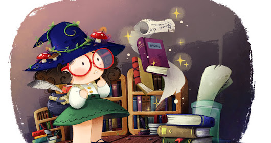 Witch and books
