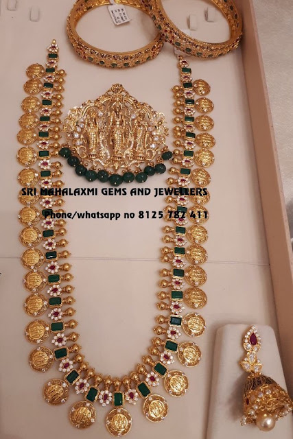 Emerald Long Chain with Ram Lakshman Pendant