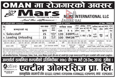 Jobs in Mars Supermarket Oman