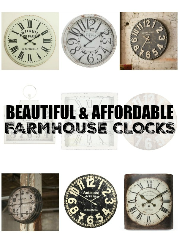 Beautiful and Affordable Farmhouse Clocks