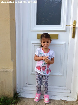 Pre-schooler on the door step