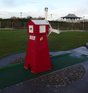 Crazy Golf course in Southport's King's Gardens