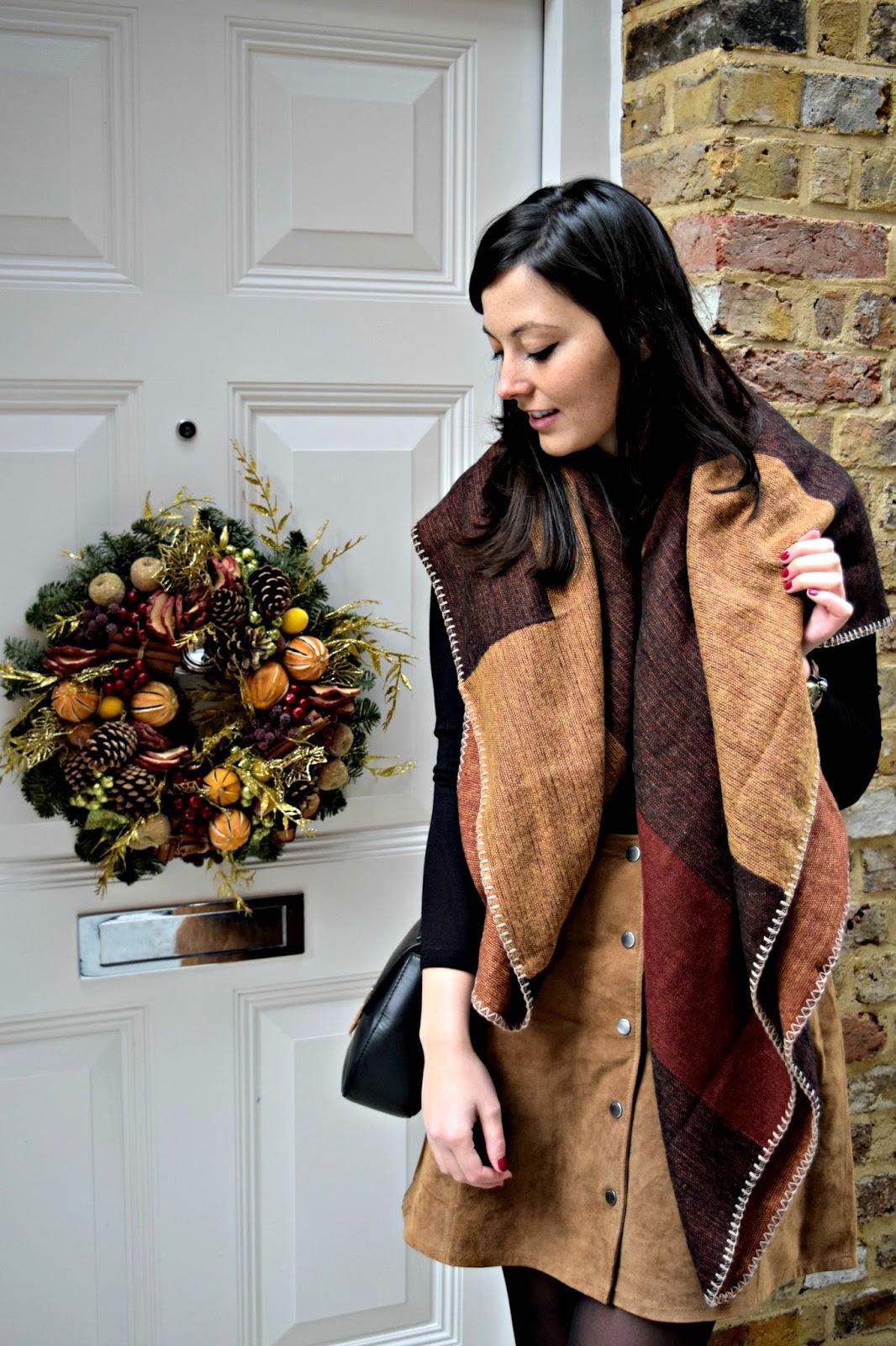 Fashion OOTD Stradivarius scarf