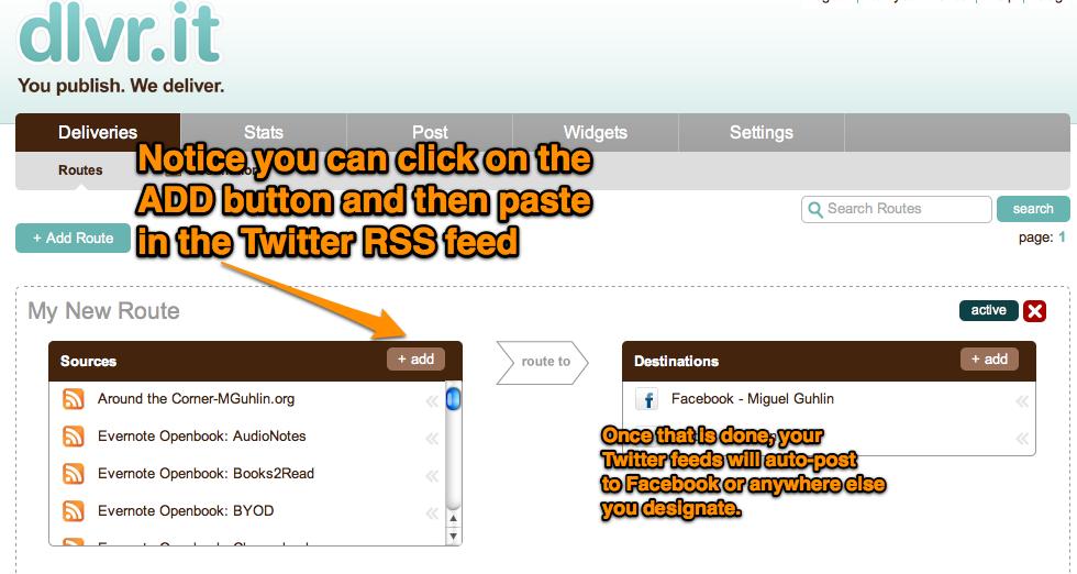 Feeding Multiple Twitter Accounts into Facebook   Around the Corner