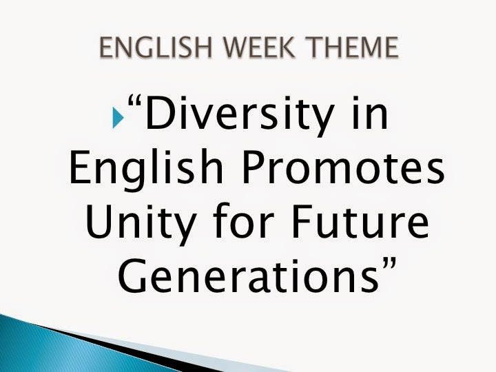 English Teachers ORE San Juan : English WEEk Poster