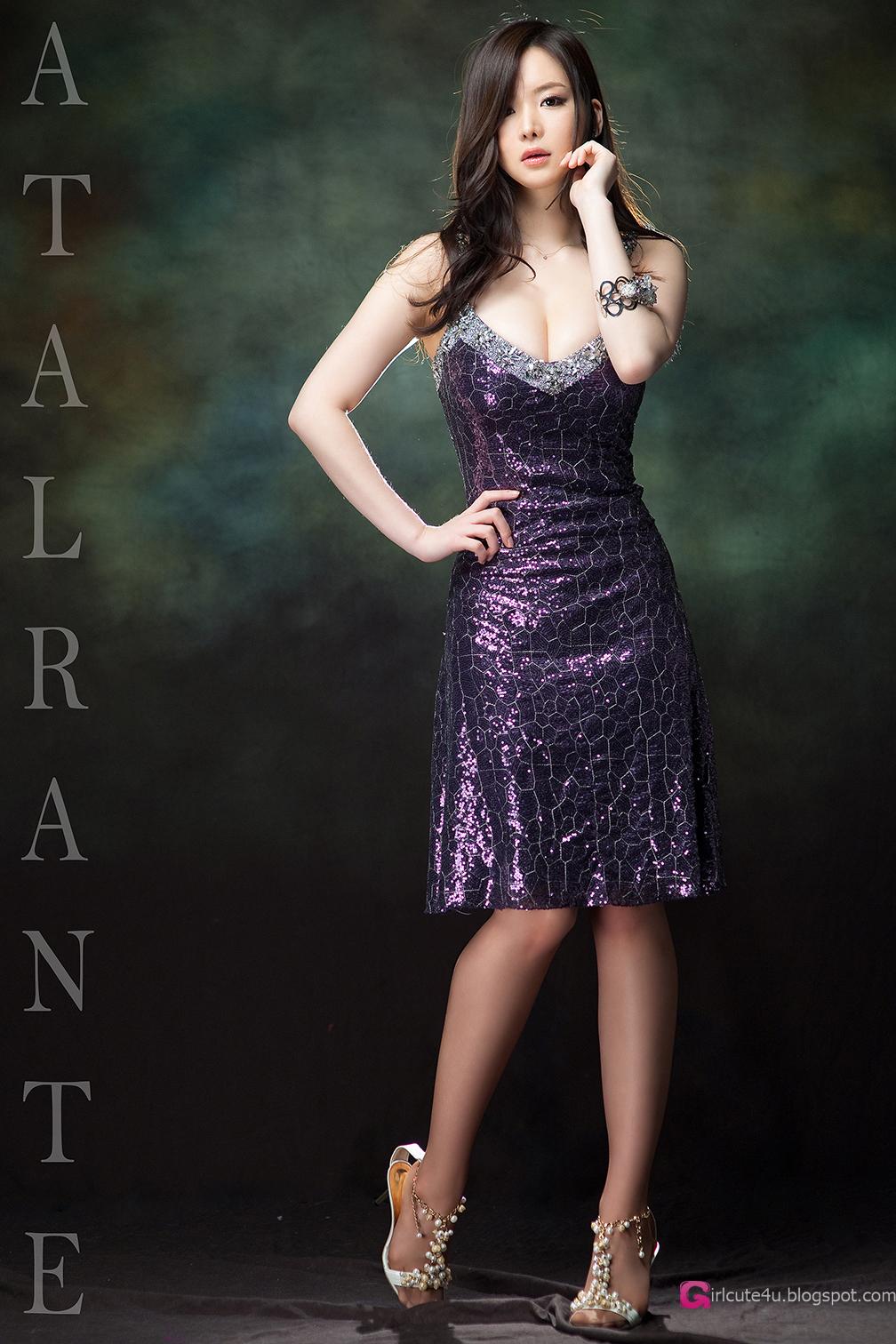 Cute Asian Girl Im Ji Hye - Gorgeous Purple-4504