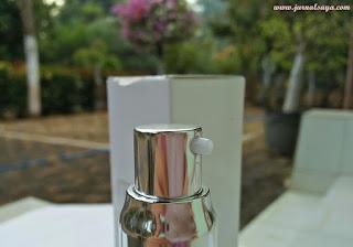 air pump dispenser pada kemasan lavine cosmetics