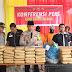 Kapolres Madina AKBP Irsan Sinuhaji. SIK, MH gelar konferensi pers akhir tahun 2018