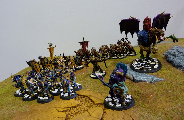 "Age of Sigmar Battle Report: ""Take And Hold"" - Disciples of Tzeentch vs Nurgle Rotbringers."