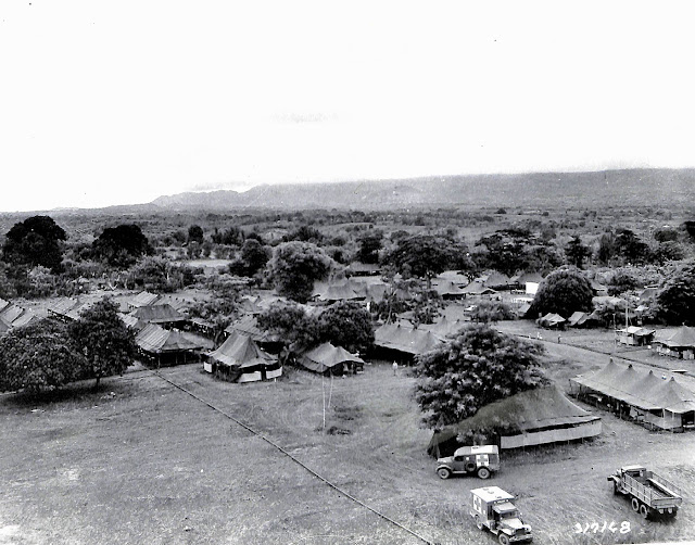 Area of the 89th Field Hospital, Base R. Batangas, Luzon, P.I. Taken 8 June 1945.