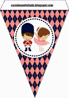 Banner o Estandarte para Imprimir Gratis  del Cascanueces Bebé.