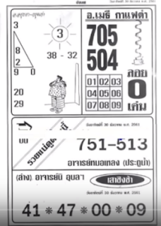 Thai Lottery First 4pc Paper Magazines For 01.01.2019 | VIP