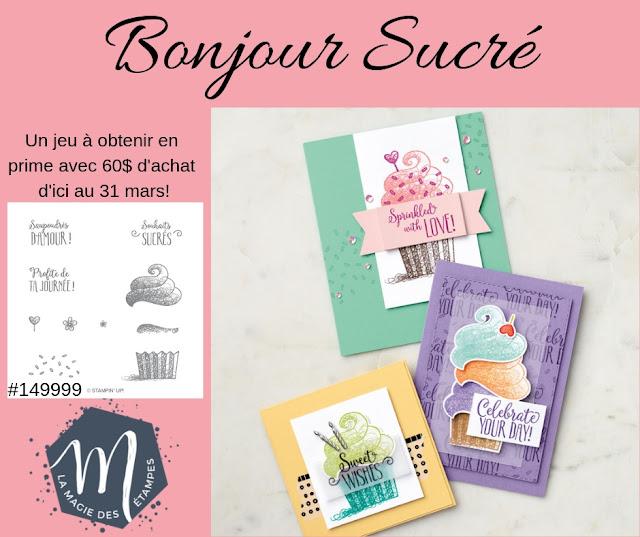 Prime Sale-a-bration Bonjour Sucré Stampin' Up! 2019