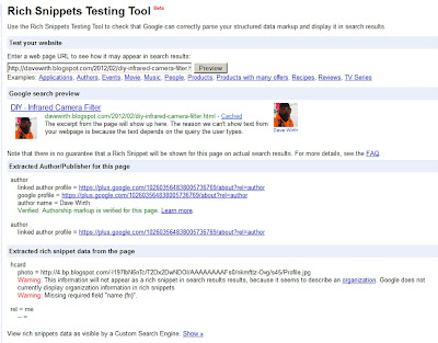 Rich Snippets Testing Tool Verified author image