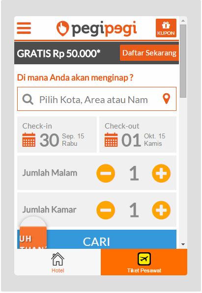 Hasil gambar untuk pegipegi app