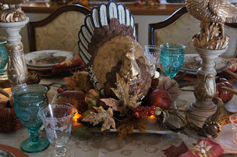Thanksgiving Woodland Themed Tablescape