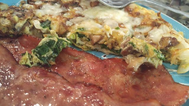Mushroom Spinach Frittata-lett