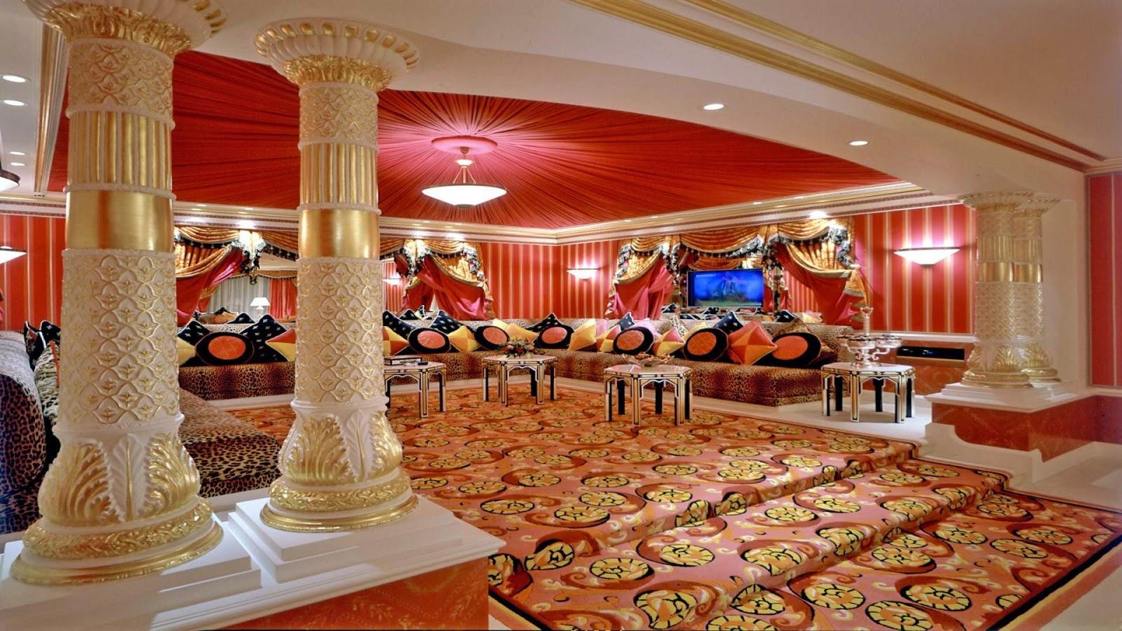 Inside view of Burj Al Arab a seven star hotel.