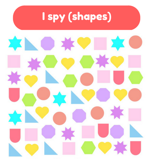 Printable Games by Practical Mom: I Spy (Shapes)