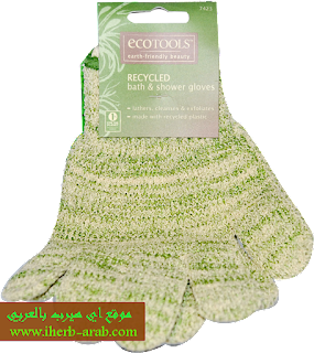 قفاز استحمام منظف و مقشر من اي هيرب EcoTools, Recycled Bath & Shower Gloves, 1 Pair