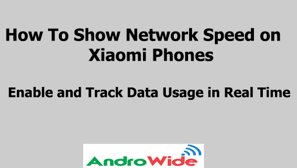 show data speed on redmi devices