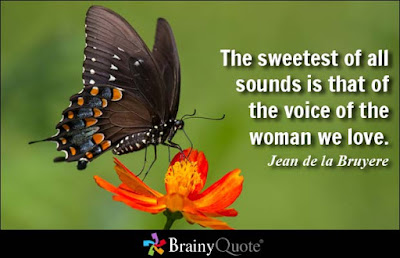 women life quotes: the sweetest of all sounds is that of the voice of the woman we love.