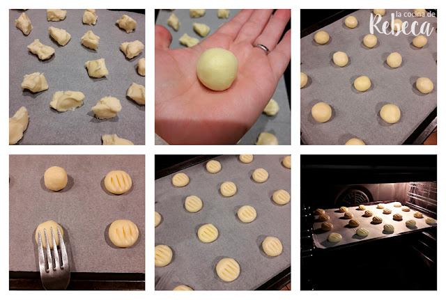 Receta de galletas de leche condensada (sin gluten): el formado