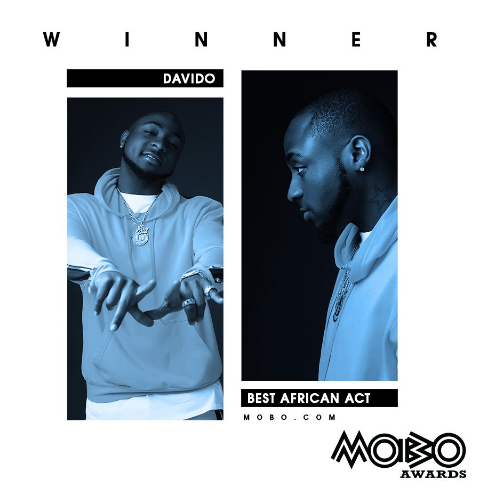 MOBO Awards: Davido Wins 'Best African Act' in MOBO Awards