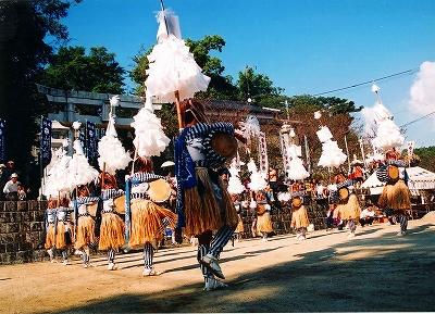 Yamanonogaku (ritual dance festival), Kama City, Fukuoka Pref.