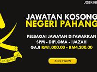 KEKOSONGAN JAWATAN TERKINI DI NEGERI PAHANG - GAJI RM1,000.00 - RM4,200.00