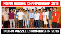Indian Puzzle Championship 2016 - Indian Sudoku Championship 2016