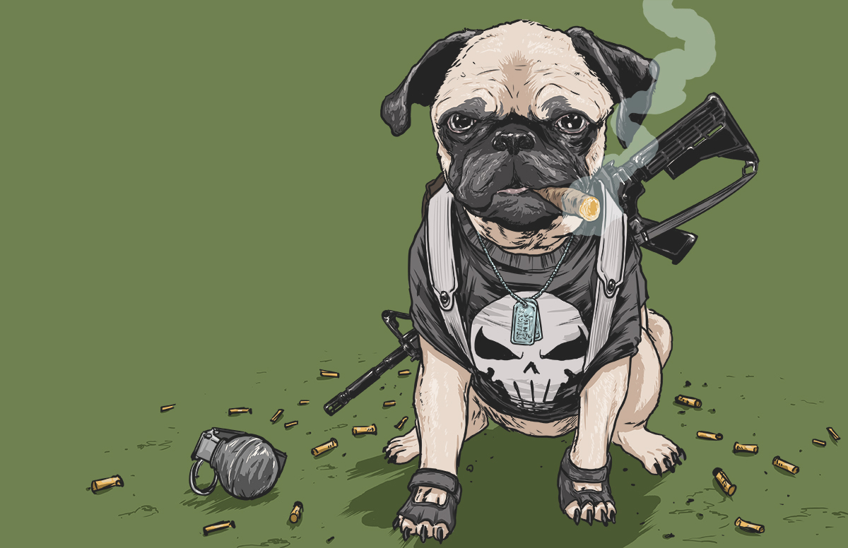 09-The-Punisher-Josh-Lynch-Illustrations-of-Dogs-with-Marvel-Comic-Alter-Egos-www-designstack-co