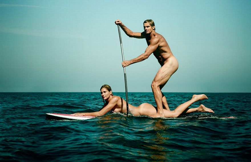 Gabrielle Reece and Laird Hamilton,former pro beach volleyball player and big wave surfer,married