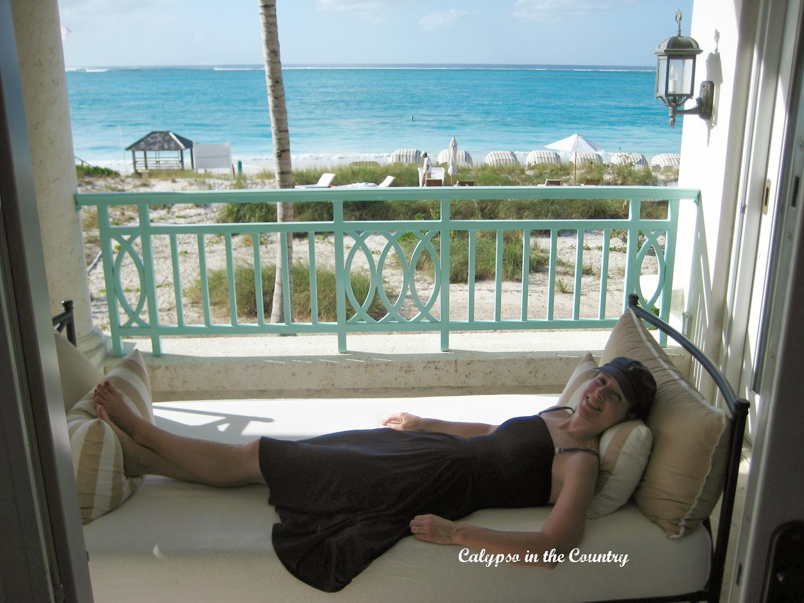 Lounging at the Palms Turks and Caicos