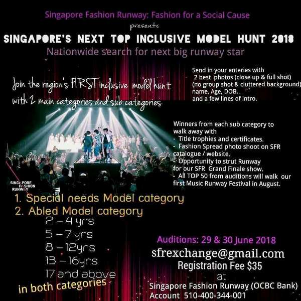 singapore fashion runway mega model hunt