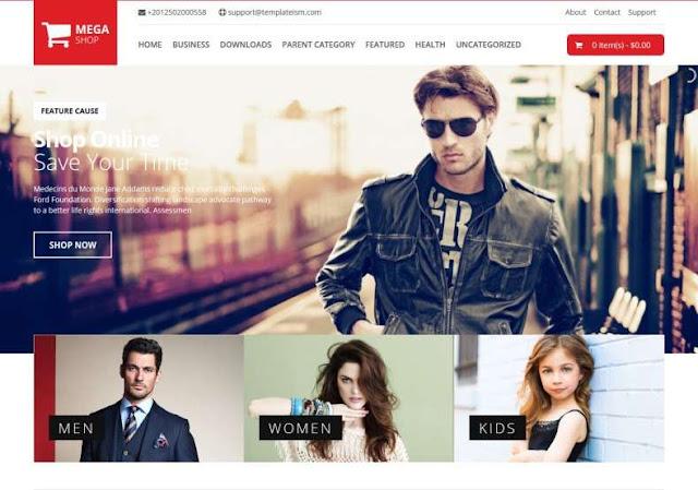 Mega Shop Blogger Theme