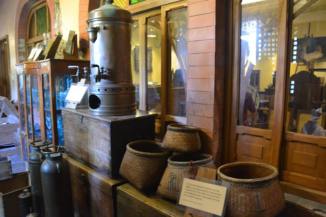 Old baskets and water containers