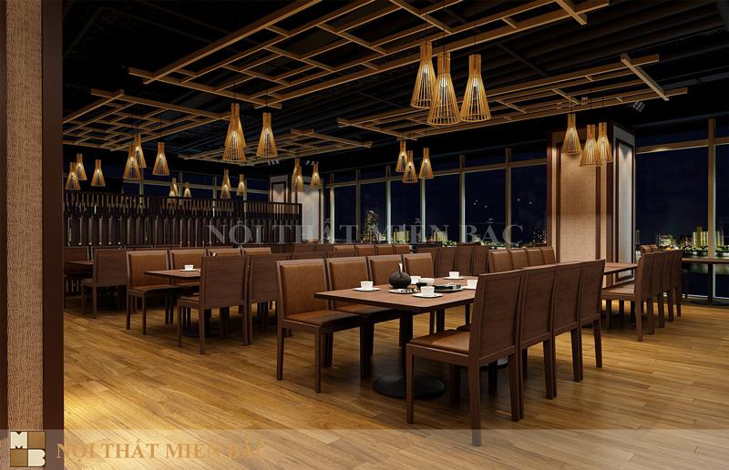 Thiết kế nhà hàng phong cách Nhật sang trọng