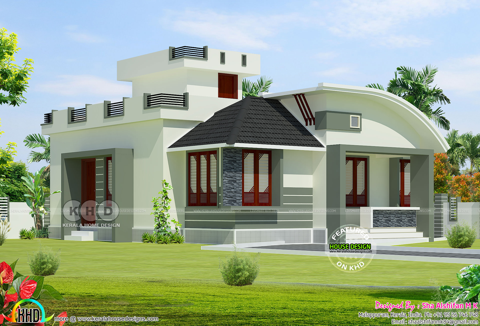 Modern single storied 2 bedroom home 950 sq ft