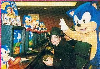 Michael jackson playing video games