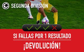 sportium Segunda División: Combinada 'con seguro' 2 junio