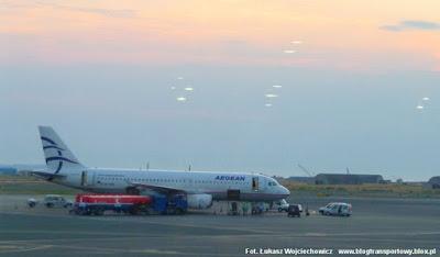 Airbus A320-232 o rejestracji SX-DGB, własność greckich linii Aegean Airlines